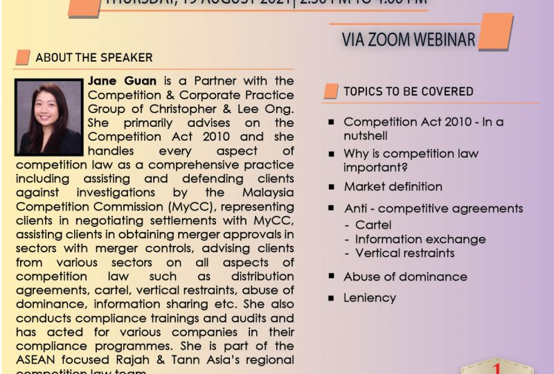 Overview Of Competition Law In Malaysia On 19 August 2021