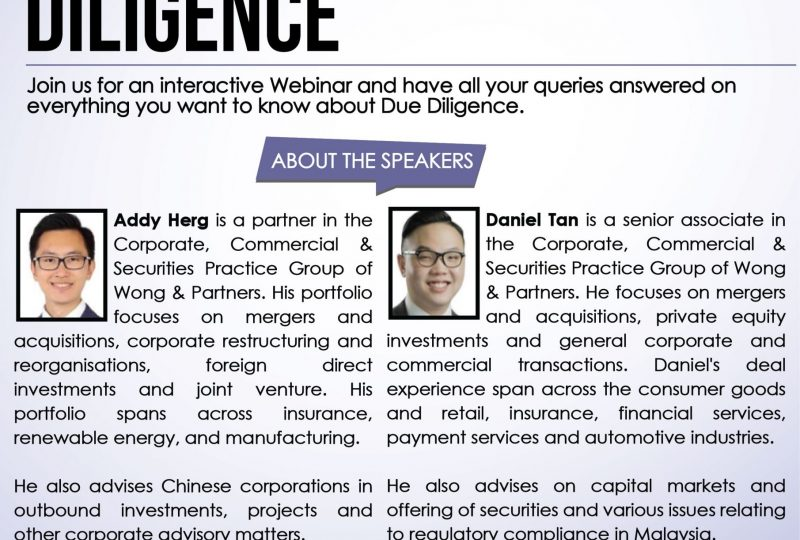 Q&A Session on Due Diligence on 23 April 2021