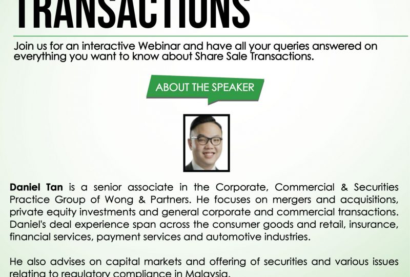 Q&A Session on Share Sale Transactions on 26 February 2021