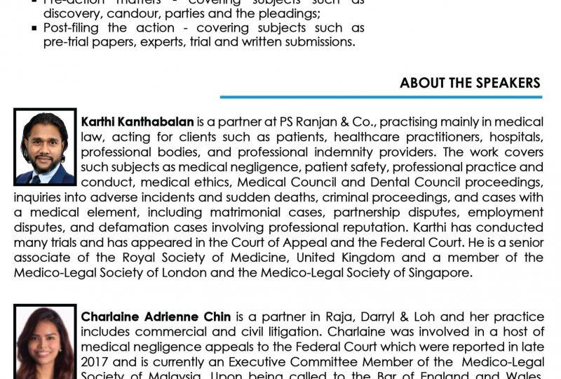 Practical Aspects of Medico-Legal Litigation on 26 April 2021