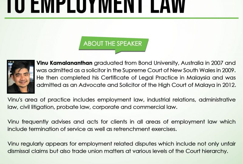 An Introduction to Employment Law on 20 April 2021